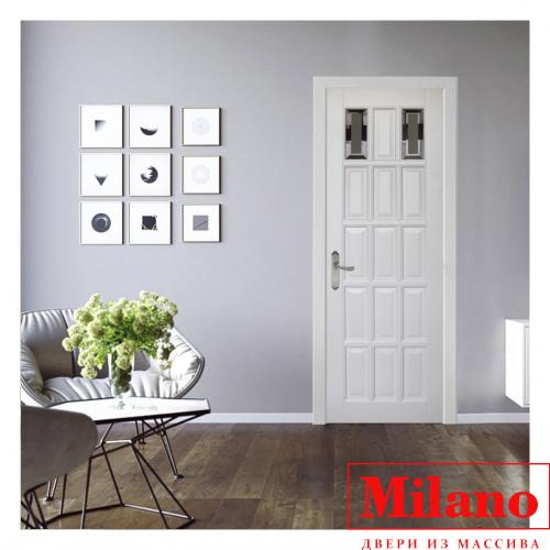 Дверь из массива сосны брашированной Milano